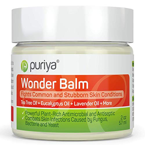 Puriya Tea Tree Oil Balm, Extra Strength Plant Rich Fast Acting Relief, Wonder Balm Topical Ultra Care for Itchy Foot, Hand, Toe, Finger, Groin and Cracked Skin, Fit for All Athletes