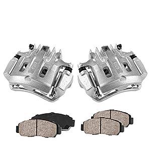 Callahan CCK11471 [2] REAR Premium Loaded OE Caliper Assembly Set + Quiet Low Dust Ceramic Brake Pads