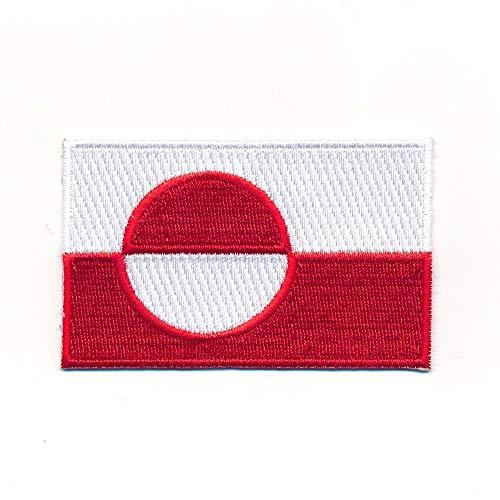 hegibaer 60 x 35 mm Grönland Nuuk Dänemark Flagge Flag Patch Aufnäher Aufbügler 1165 B