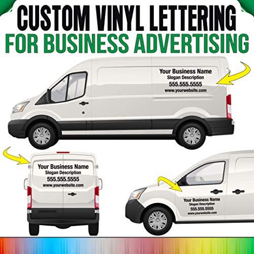 Rapid Vinyl Business Name, Info, Slogan Decal Custom Vinyl Lettering Sticker Auto Car Window, Business Glass, Truck, Doors, Trailer Windshield Graphic Banner Personalized