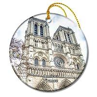 フランスアミアン大聖堂クリスマスオーナメントセラミックシート旅行お土産ギフト