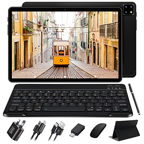 10' Tablet Android 10 FACETEL Octa-Core Processor 1.6GHz Tablets 4GB RAM + 64GB ROM,Dual Cameras (5MP + 8MP) |1920x1200 FHD IPS Display | 8000mAh | Wi-Fi | Bluetooth (black)