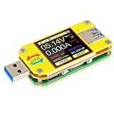 UM34C USB Tester Meter Voltmeter USB Multimeter Spannung Strom USB Spannungsprüfer Bluetooth Amperemeter Messgerät 1,44-Zoll Farb LCD Display USB 3.0 Typ-C Kabelwiderstand Impedanz meter laden
