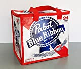 Pabst Blue Ribbon Insulated Beer Tote Cooler Bag, Fits 24pk of PBR Beer