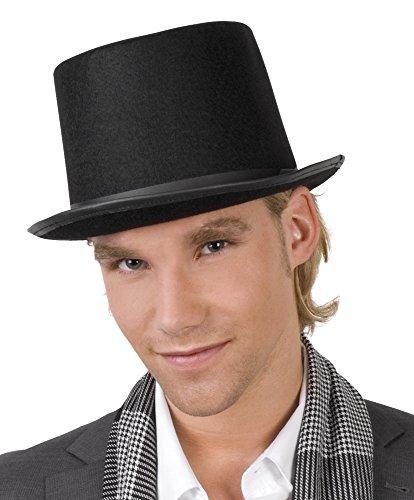 Cylindre chapeau haut de forme noir en feutrine