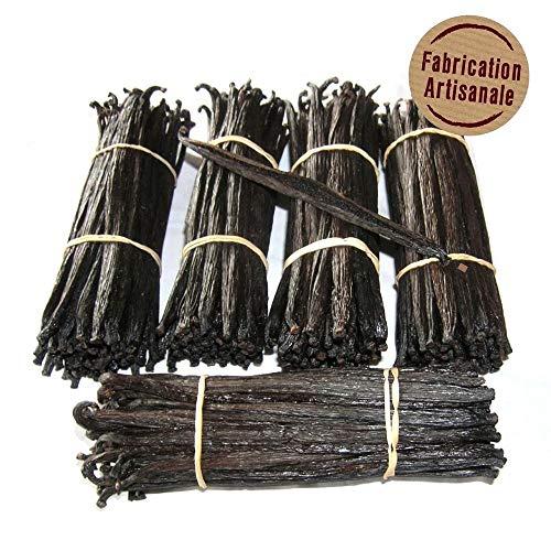 10 Vanille Extras von Madagaskar – Vanille – Bourbon schwarz Gourmet von 14 cm bis 16 cm – Vanille – Großzügig – Vakuum