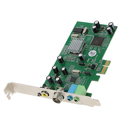 Fesjoy Tarjeta Sintonizadora de TV Interna PCI-E Video MPEG Grabador de Captura DVR PAL BG PAL I NTSC SECAM PC Tarjeta Multimedia PCI-E Remote