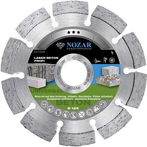 Nozar Diamant-Trennscheibe Laser Beton Profi 125 mm 22,23 mm