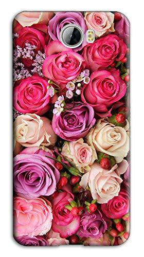 Mixroom - Cover Custodia Case in TPU Silicone Morbida per Huawei Y6 II Compact M741 Bouquet di Rose