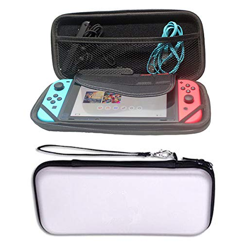 Best Shopper - Hard Protective Pouch Bag Waterproof Case Cover Bag Accessory For Nintendo Switch Console NS V1 V2 - White
