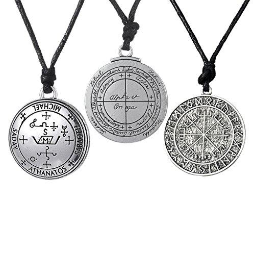 Colcolo 3 Piezas Vintage Mysterious Rune Colgante Norse Viking Amulet