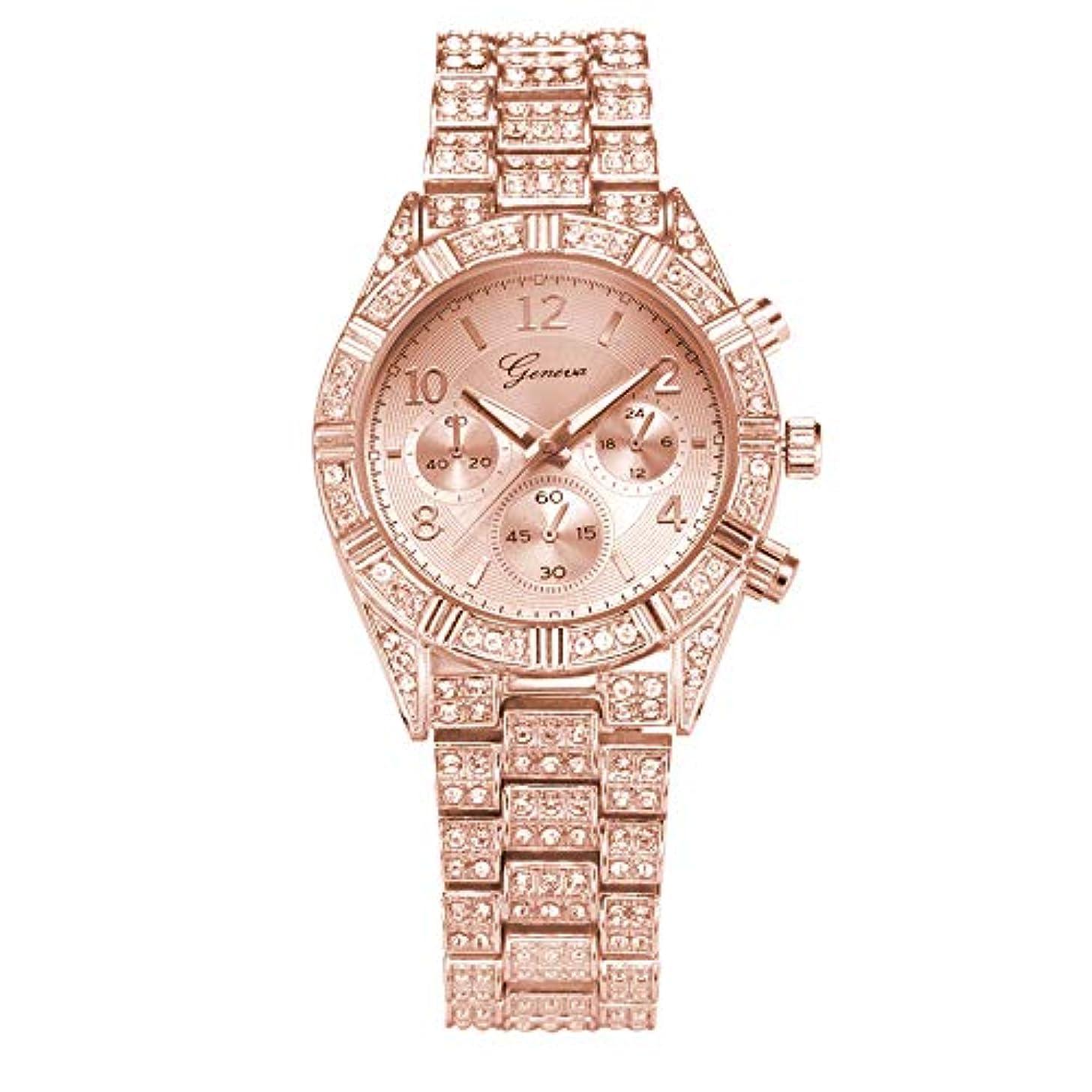 Women Watches for Sale,2019 Summer Deals! Fashion Stainless Steel Geneva Women Crystal Quartz Analog Wrist Watch(Rose Gold)