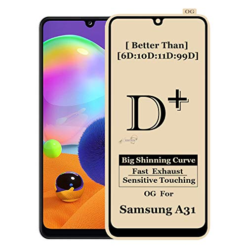 Xester ® [D-plus] Screen Protector Compatible with Samsung m31 Anti-Fingerprint Edge to Edge 9h Hardness, 6x Stronger, Installation Frame, Full Screen Coverage Tempered Glass - Transparent