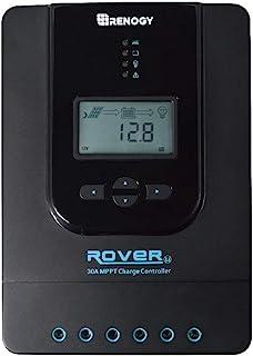Renogy Rover 30 Amp 12V/24V DC Input MPPT Solar Charge Controller Auto Parameter Adjustable LCD Display Solar Panel Regula...