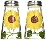 Grant Howard 39013 Hand Painted Tapered Salt and Pepper Shaker Set, Sunflowers, Yellow, 2