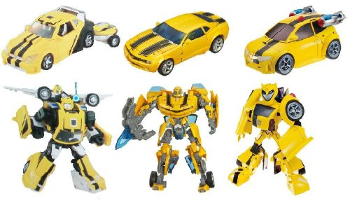 Transformers Exclusive Deluxe Action Figure 3-Pack Legacy of Bumblebee (Classic, Movie and Animated)