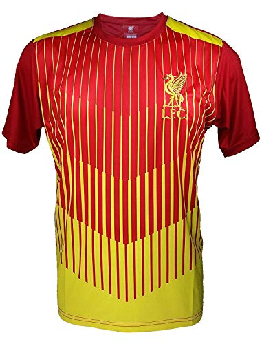 Liverpool F.C. Soccer Official Adult Soccer Training Performance Poly Jersey -J008 X-Large Black