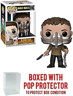 Funko POP! Movies Mad Max Fury Road Max with Cage Mask and Blood Bag #510 Walmart Exclusive! Collectible Vinyl Figure (Bundled with Pop Protector)