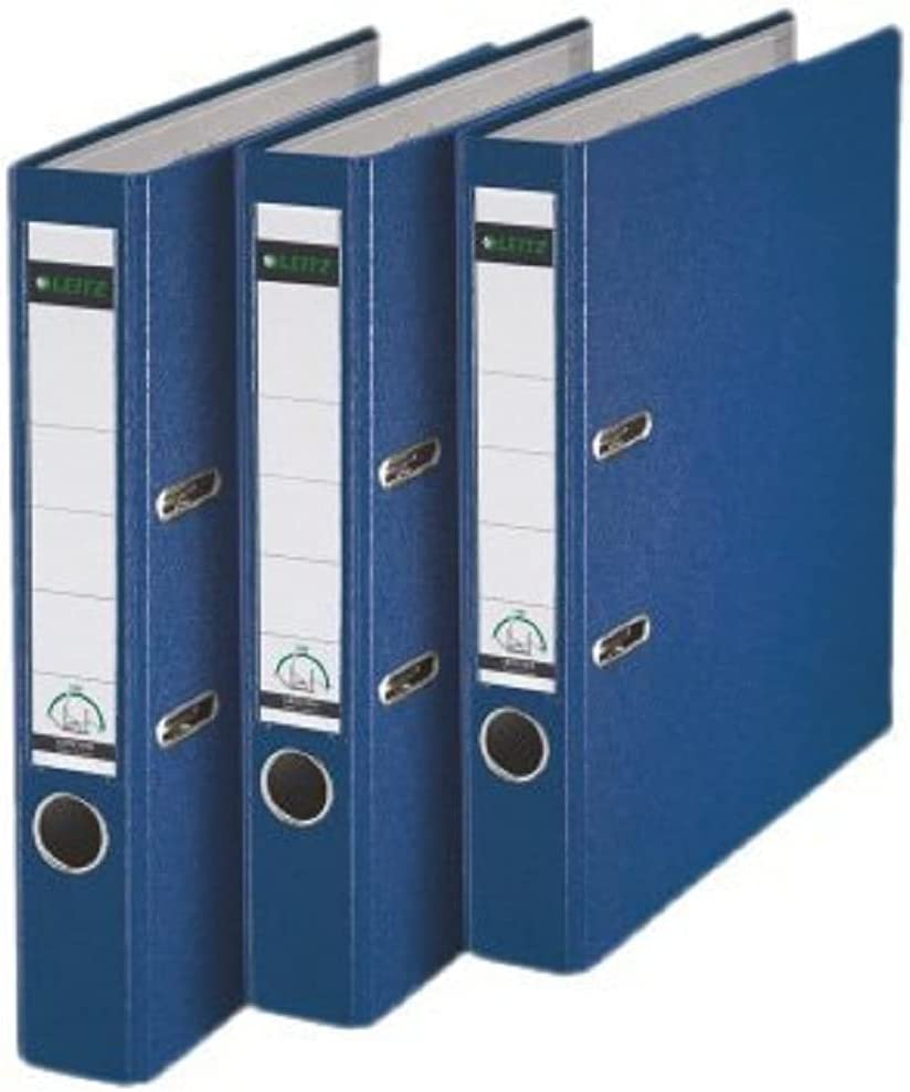 Selling Leitz 180° A4 Plastic Lever Arch File 3 Blue 50mm Pack latest - of