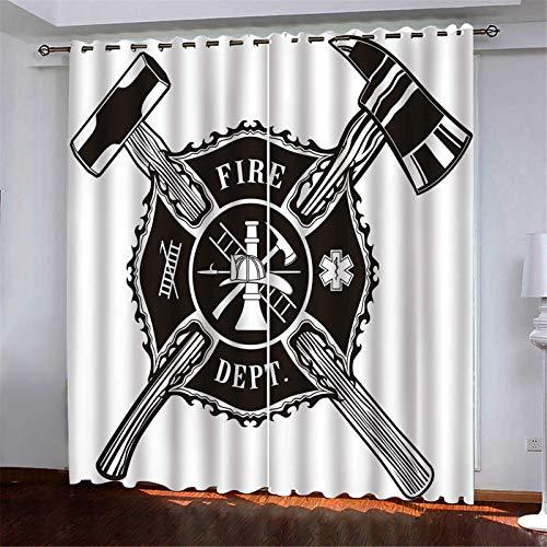 Verduisterend gordijn brandweer Effen Oogje Gordijnen 100% Polyester Gordijn Super Zachte Thermische Geïsoleerde Gordijnen Voor Keuken Slaapkamer Woonkamer Decoratie 140x160 cm
