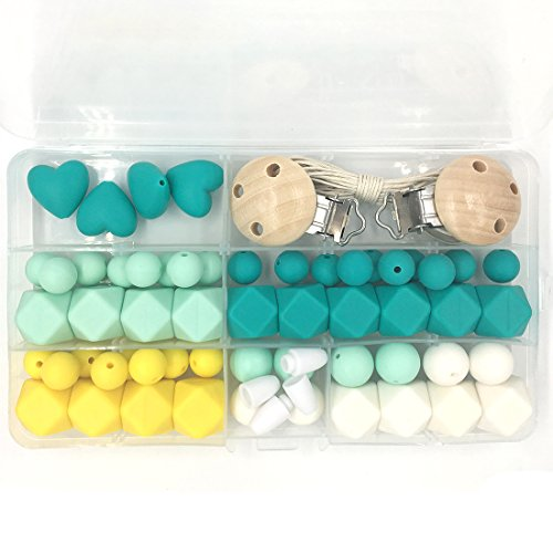 Kit Geométrico para hacer un collar de dentición Silicona