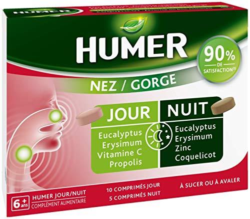 Humer - Comprimés - Jour/Nuit - Nez - Gorge - 9 personnes sur 10 satisfaites - 5 jours de prise