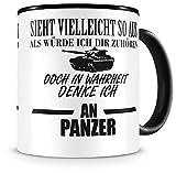 Samunshi® Tasse Panzer Spruch Bundeswehr Geschenke