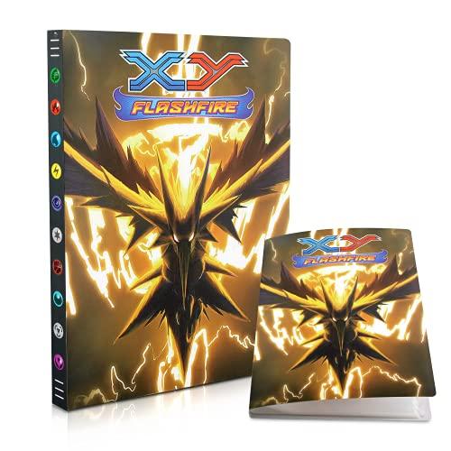 Álbum de Pokemon,Tarjetero Pokémon,Álbum de Cartas Coleccionables Pokémon, Álbum de Entrenador de Cartas Pokémon GX EX. El álbum Tiene 24 páginas y Puede Contener 432 Tarjetas (Lightning bird)