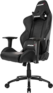 AKRacing Core Series LX Gaming Chair with High Backrest, Recliner, Swivel, Tilt, Rocker and Seat Height Adjustment Mechanisms with 5/10 Warranty - Black