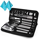 20 Pcs Heavy Duty BBQ Grilling Tools Set Stainless-Steel Barbecue Tools Set