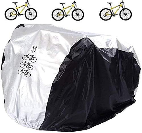 Cubierta de bicicleta impermeable al aire libre motocicleta cubiertas para 3 bicicletas al aire libre polvo lluvia viento nieve prueba para montaña carretera bicicleta eléctrica