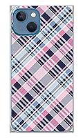 スマホケース カバー チェック ピンク 青 ソフトケース [対応機種:iPhone13 mini iPhone13mini ]