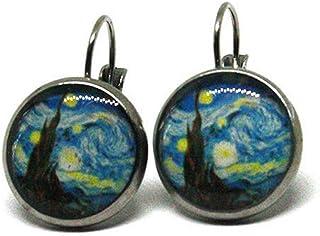 Orecchini Notte Stellata - Van Gogh - arte - Orecchini pendenti - anallergici