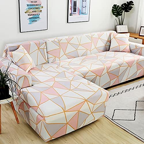 Funda de sofá elástica seccional elástica para Sala de Estar Funda de sofá en Forma de L Funda de sillón decoración del hogar A14 1 Plaza