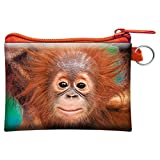 3D LiveLife Coin Purse - Baby Orangutan from Deluxebase. Lenticular 3D Monkey Purse. Cash, coin and card holder with secure zipper featuring artwork licensed from renowned artist David Penfound