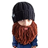 Beard Head Kid Vagabond Beard Beanie - Knit Hat and Fake Beard for Kids Toddlers Brown