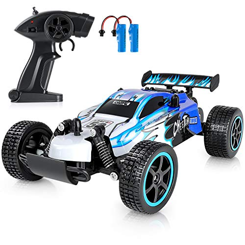 Remote Control Car for Boys - High Speed RC Racing Car with 2 Rechargeable Batteries, 1 20 2WD All Terrain Hobby RC Cars Toys Fast Vehicle, Kids Car Toys for 6-12 Years Old Boys Xmas Gifts