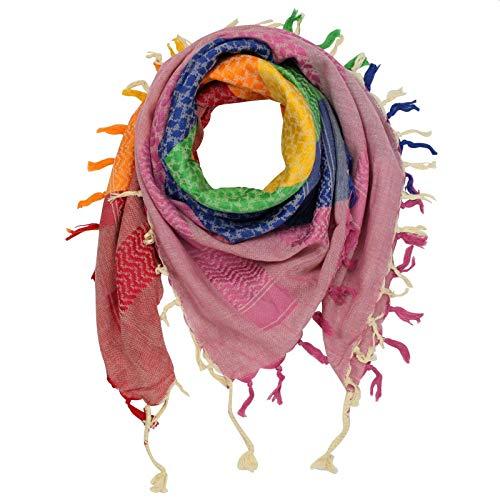 Superfreak Palituch - bunt-mehrfarbig 30-100x100 cm - Pali Palästinenser Arafat Tuch - 100% Baumwolle
