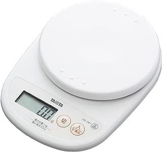タニタ デジタルクッキングスケール 1kg(0.5g単位) ココナッツホワイト KD-189-WH