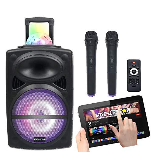 Máquina de karaoke Bluetooth portátil y altavoz de 300 W con efectos...