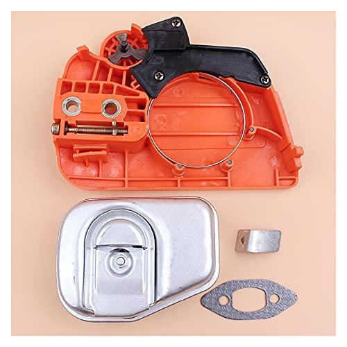 Ajuste perfecto Kit de escape del silenciador del freno de la cadena Fit para H-USQVARNA 235 240 235E Cadena de motosierra Piezas de sierras OEM 525628901 545008026 Buena resistencia a la abrasión