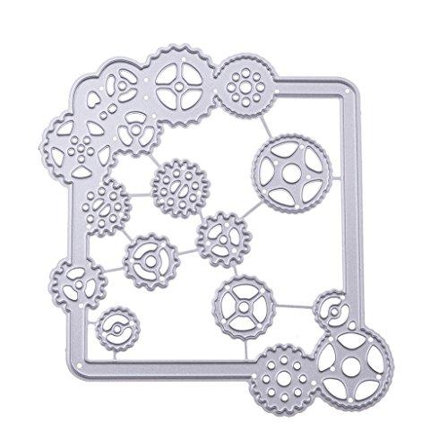 Senoow Gear Snijkwast, sjabloon voor knutselen, scrapbooking, reliëf, album, kaart, papier en handwerk