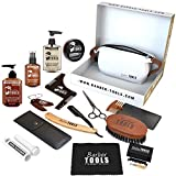 BARBER TOOLS Kit/Set/Estuche de arreglo y cuidado de la barba y afeitarse | Cosmético Made in French