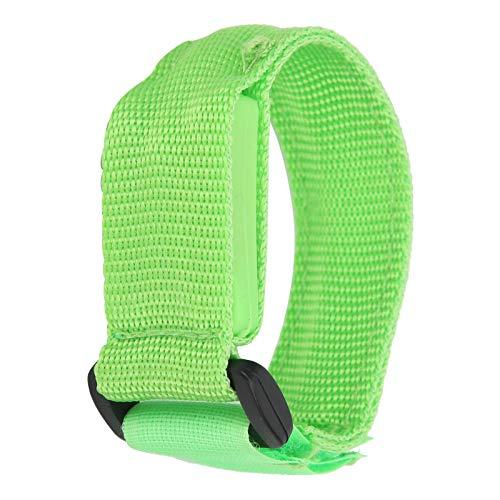01 Brazalete LED, Correas de Nailon + plástico + Fibra de PU Pulsera LED fácil de Usar para Ciclistas para Deportes nocturnos al Aire Libre para Corredores(Green)