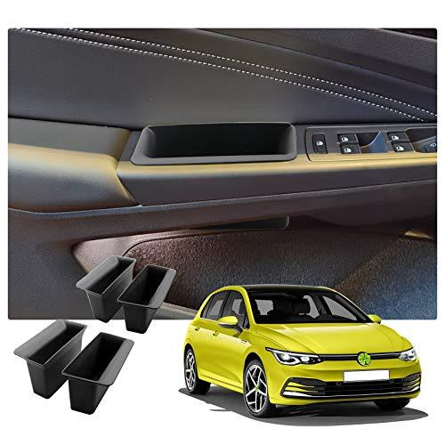 RUIYA für Golf 8 mk8 GTI GTD GTE 2020 Auto Türgriff Armlehne Aufbewahrungsbox für Vordertür und Hintertür Innenraum Zubehör Aufbewahrungskiste (4 Stück)