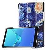 YNLRY Tablet-Hüllen Für Huawei Mediapad M5 8,4 Zoll (Release 2018), Eule Schmetterlingsblume Löwenzahn Eiffelturm Design Smart Tablet-Gehäuse Trifold-Ständer Mit Auto-Schlaf/Wake (Color : 4)