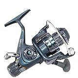 DRGRG Moulinet Carrete De Pesca Rueda De Calamar Delantero Y Trasero Doble Freno Pescador Carrete De Pesca Rentable-Blue_6000 Series Spinning Reel (Color: Azul, Tamaño: Serie 4000)