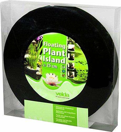 velda 127572 Treibende Pflanzinsel für den Teich, Ø 25 cm, Rund, Floating Plant Island