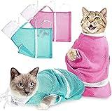(1) [Une bonne aide au bain]: vous obtiendrez 2 pièces de sacs de douche pour chat réglables; Avec ces sacs, vous pouvez efficacement empêcher les chats de vous gratter ou de vous mordre tout en donnant un bain à votre chat (2) [Réglable]: Vous pouve...