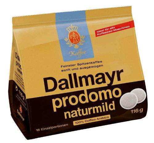 Dallmayr Naturmild Pads 116g - 10er Karton (10 x 16 Pads)